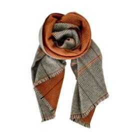 BLACK COLOUR - ORANGE JANNIE CHECK SCARF