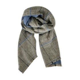 BLACK COLOUR - BLUE JANNIE CHECK SCARF