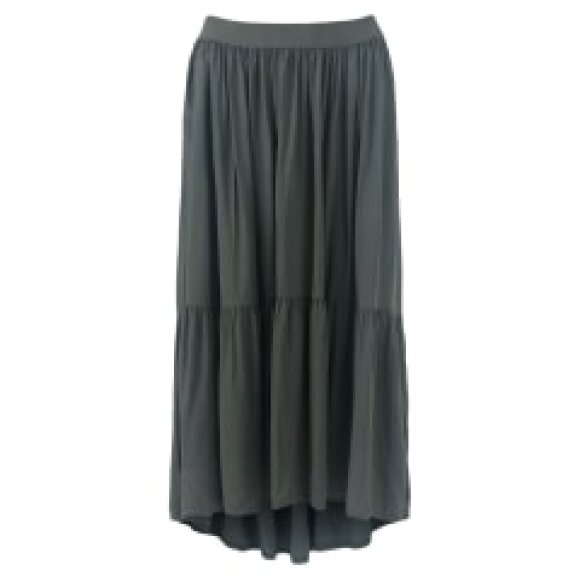 BLACK COLOUR - BLACK HEIDI MIDI SKIRT