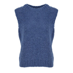 NOELLA - DENIM BLUE KALA VEST , WOOL