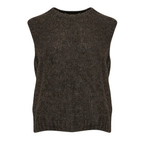NOELLA - NATURE BROWN KALA VEST, WOOL