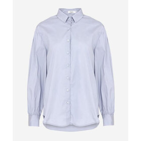 NOELLA - GREY BLUE TATE SHIRT, POPLIN