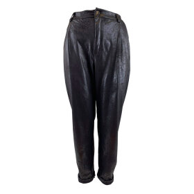 BLACK COLOUR - BLACK DANTE LEATHER LOOK PANT