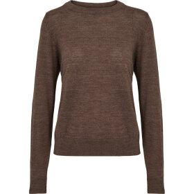 BASIC APPAREL - BROWN MEL VERA SWEATER