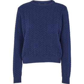BASIC APPAREL - NAVY TILDE SWEATER