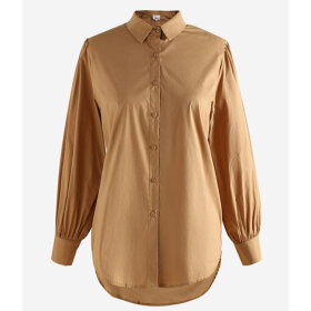 NOELLA - CAMEL TATE SHIRT COTTON