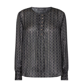 MOS MOSH - BLACK PERLA TILE BLOUSE