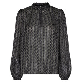 MOS MOSH - BLACK KANA TILE BLOUSE