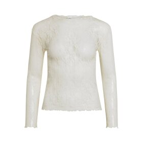 MADS NØRGAARD - OFF WHITE STRETCH LACE TRUTTLE