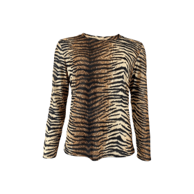 BLACK COLOUR - TIGER ANNIE MESH BLOUSE