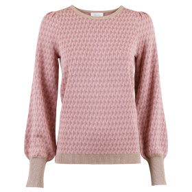 NEO NOIR - ROSE LOLINE GRAPHIC KNIT BLOUS