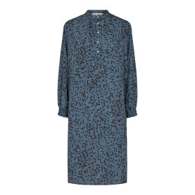 CO COUTURE - NEW BLUE SPOT SHIRT DRESS