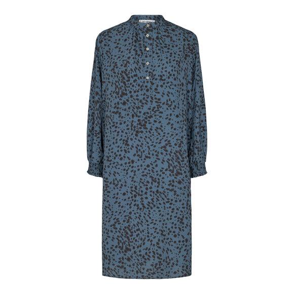 CO COUTURE - NEW BLUE SPOT SHIRT DRESS