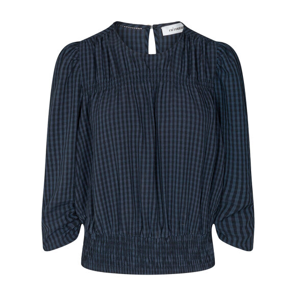 CO COUTURE - NAVY ANGE CHECK BLOUSE