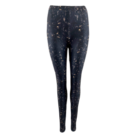 BLACK COLOUR - BLACK MERLE TIE DYE LEGGINGS