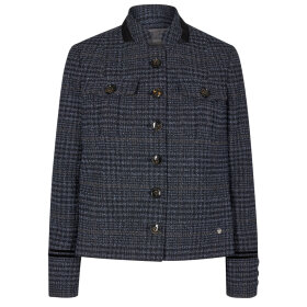 MOS MOSH - NAVY IRIS SELBY BOUCLE JACKET