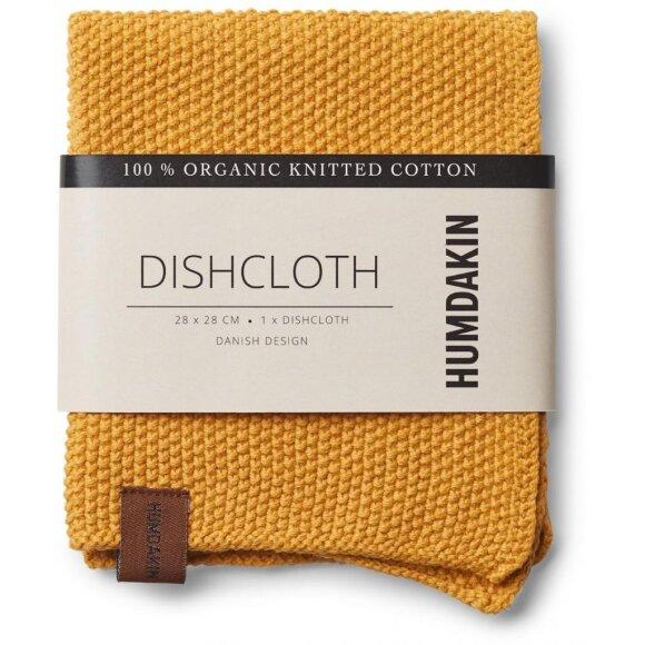 HUMDAKIN - YELLOW FALL KNITTED DISH CLOTH