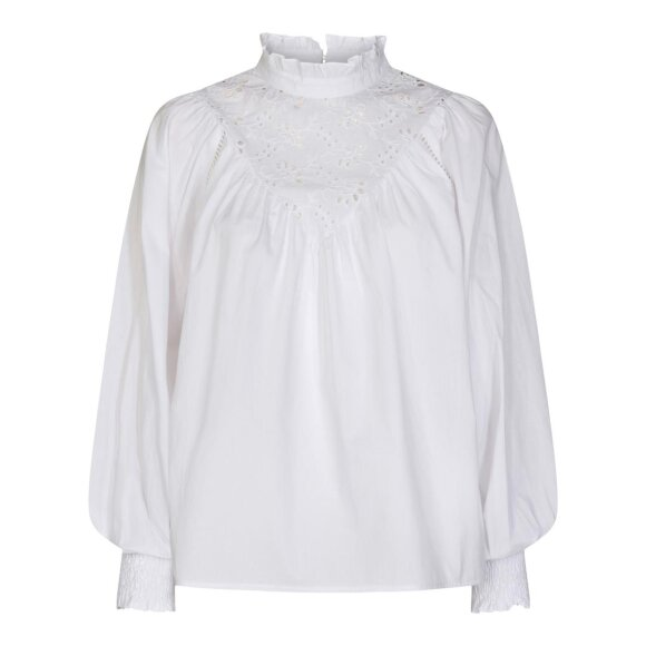 CO COUTURE - WHITE BRIELA ANGLAISE SHIRT