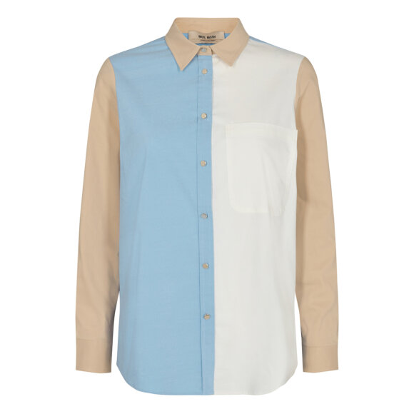 MOS MOSH - BEL AIR BLUE BELLA BLOCK SHIRT