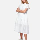 NOELLA - WHITE LIPE DRESS SHORT SLEEVE