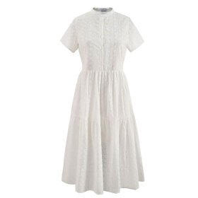NOELLA - WHITE LIPE DRESS SHORT SLEEVE