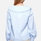 NOELLA - BLUE STRIPE ABBY SHIRT VISCOSE