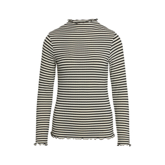 MADS NØRGAARD - OFF/BLAK 5X5 STRIPE MIX TRUTTE