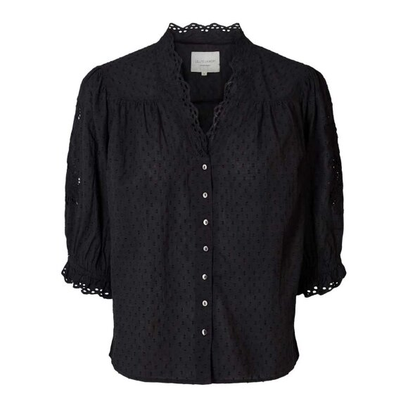 LOLLYS LAUNDRY - WASHED BLACK CHARLIE TOP