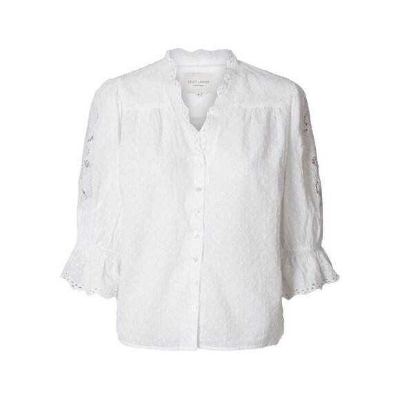 LOLLYS LAUNDRY - WHITE CHARLIE TOP