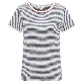 LEE - STRIPED RIBBED TEE WASHED BLUE