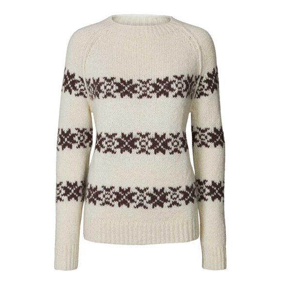 LOLLYS LAUNDRY - CREME TOMMY JUMPER