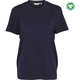 BASIC APPAREL - NAVY RIKKE TEE