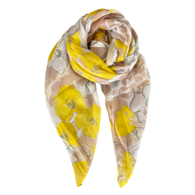 BLACK COLOUR - YELLOW BUTTERCUP SCARF