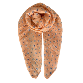 BLACK COLOUR - PEACH RINA DOT SCARF