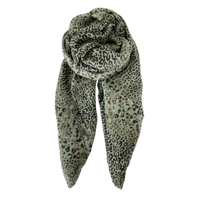 BLACK COLOUR - OLIVE LILY LEO SCARF