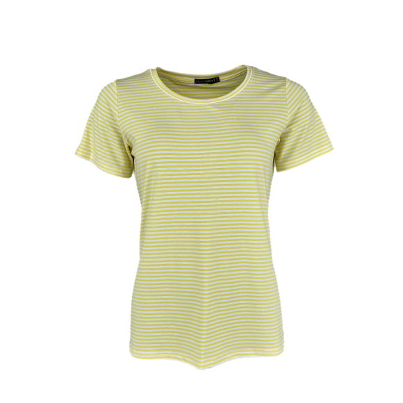 BLACK COLOUR - YELLOW POLLY S/S T-SHIRT