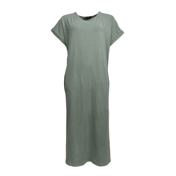 BLACK COLOUR - LT. ARMY PIPPI LONG DRESS
