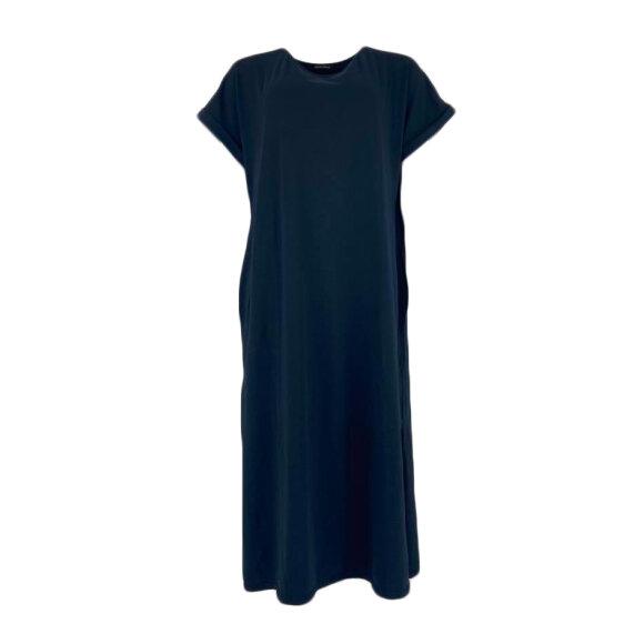 BLACK COLOUR - BLACK PIPPI LONG DRESS