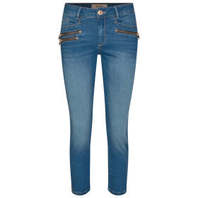 MOS MOSH - BLUE CROPPED BERLIN SATIN JEAN