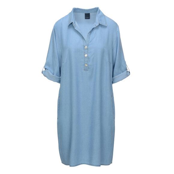 ONE TWO LUXZUZ - FADED DENIM SIWINIA DRESS