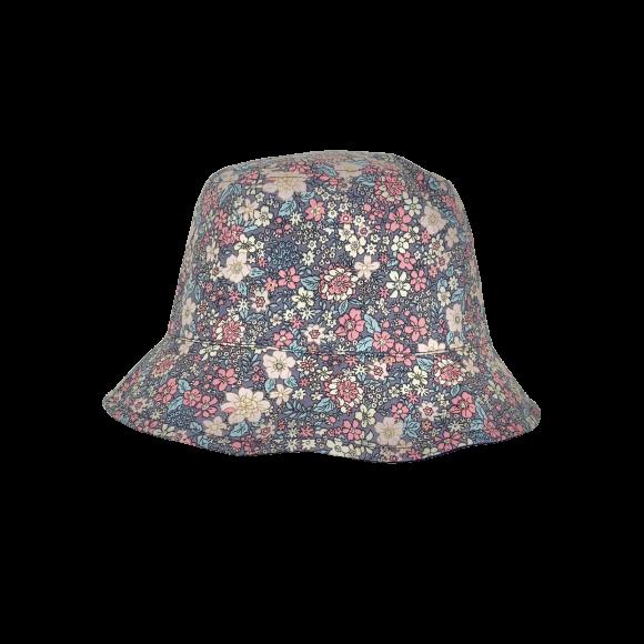 BLACK COLOUR - GREY SOYA FLOWER BUCKET HAT