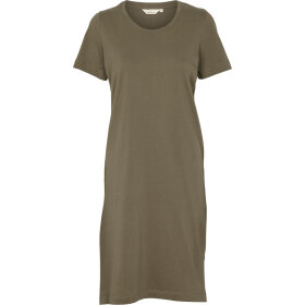 BASIC APPAREL - ARMY REBEKKA SHORT DRESS GOTS