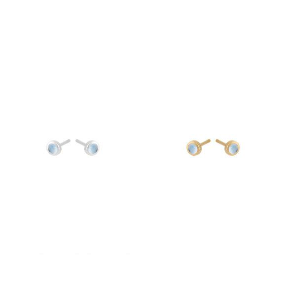PERNILLE CORYDON - SHINE BLUE EARSTICKS TOPAZ 3MM