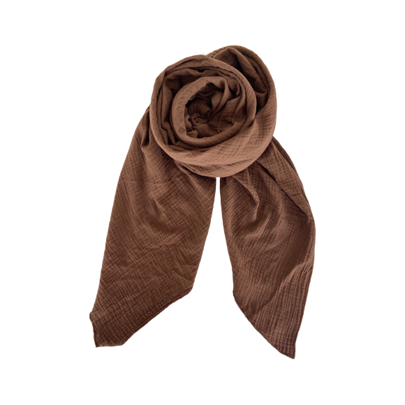 BLACK COLOUR - COFFEE DUNE DOUBLE LAYER SCARF