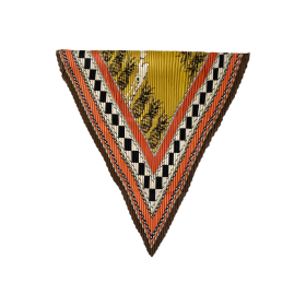 BLACK COLOUR - ORANGE/BROWN GRETA PINEAP PLIS