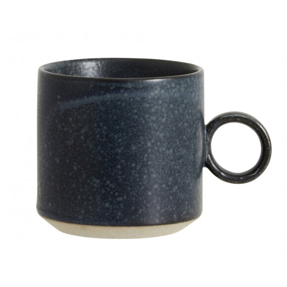 NORDAL - GRAINY CUP W/HANDLE DARK BLUE