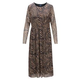 ONE TWO LUXZUZ - CAMEL SIMPLIANA MESH DRESS