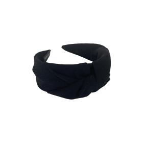 BLACK COLOUR - BLACK ANTONETTE SOLID HEADBAND