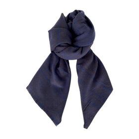 BLACK COLOUR - BLUE HOUSTON CHECK SCARF