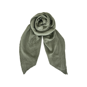 BLACK COLOUR - ARMY DUNE DOUBLE LAYER SCARF